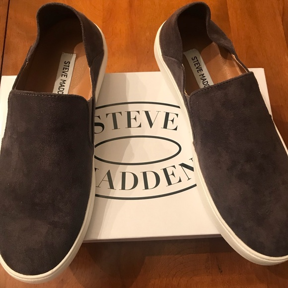 Gorgeous Suede Steve Madden Slip Ons